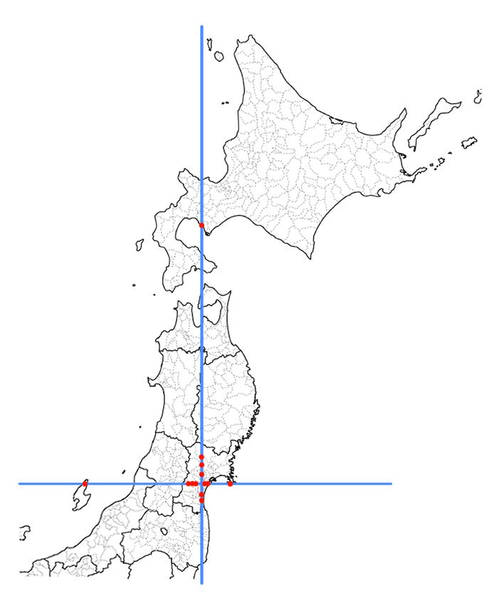 日本地図印刷用